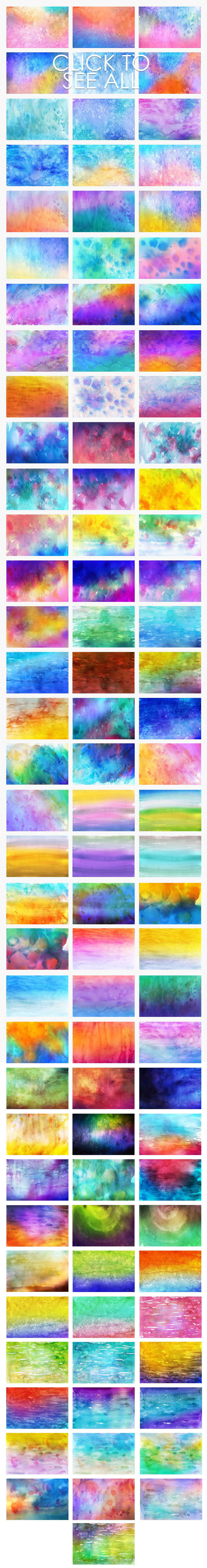 Only Watercolor Backgrounds Bundle example image 14