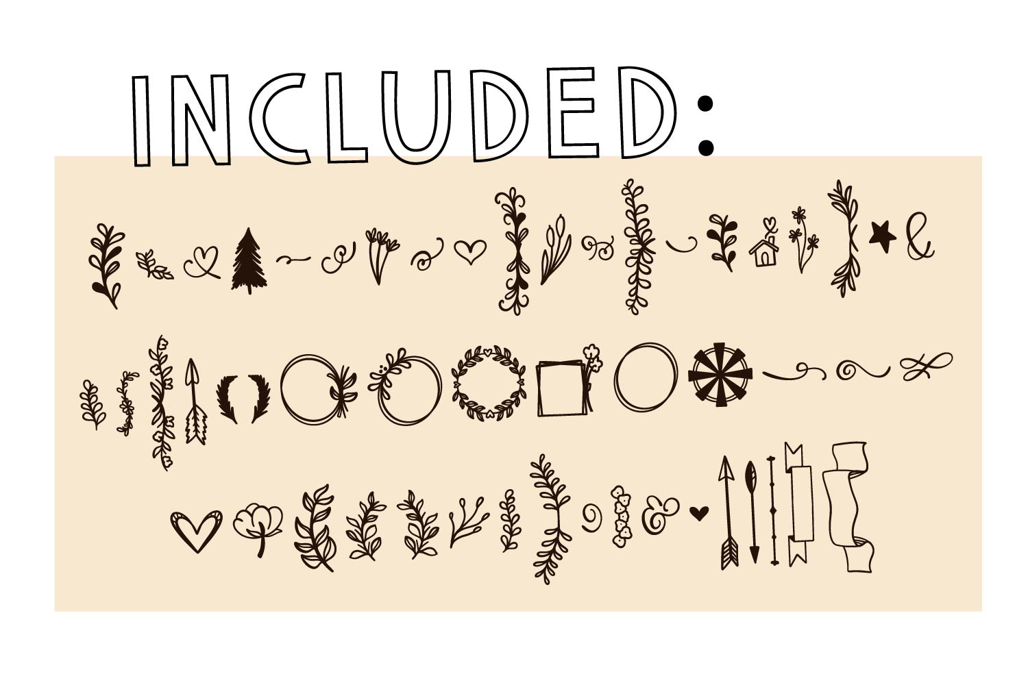 Sign Doodles - A Dingbat Font - Great For Farmhouse Signs! example image 7
