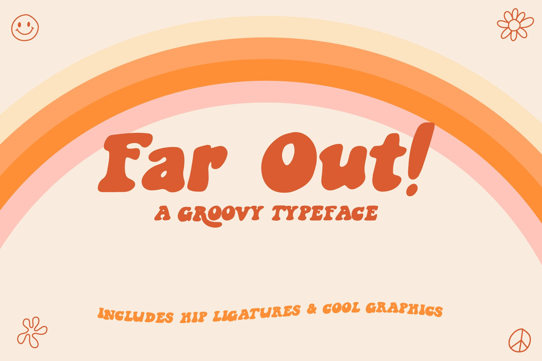 Far Out! - A Groovy Typeface example image 1