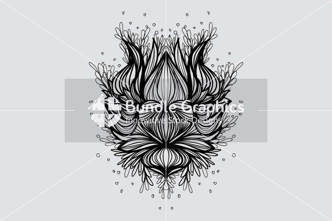 Lotus Heart - Freehand Symmetrical Design Background example image 3