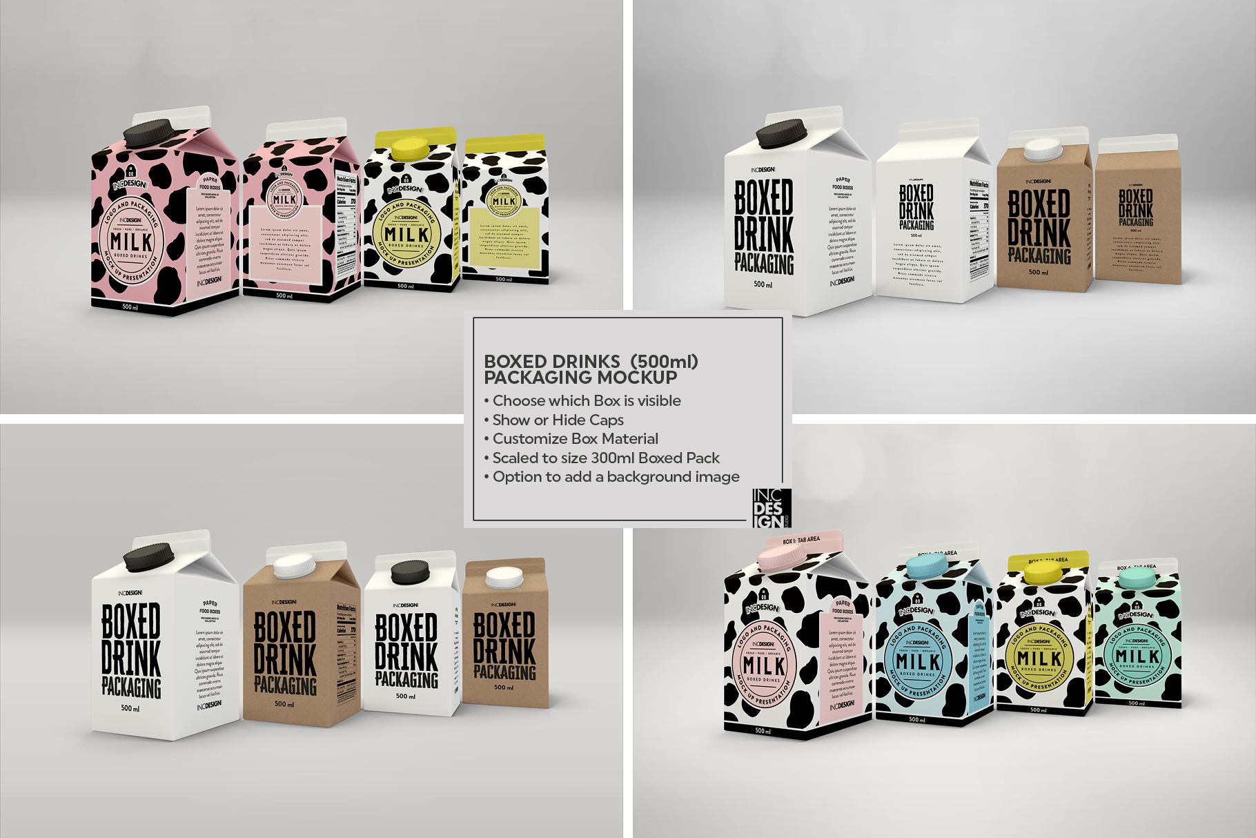 Boxed Drink Liquid Packaging Mockups example image 11