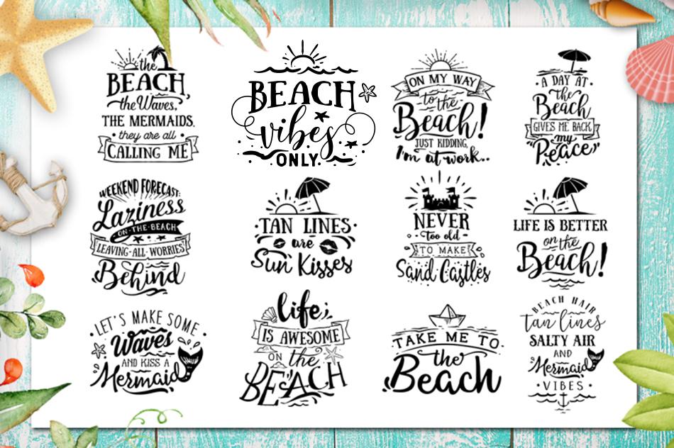 Summer SVG bundle 65 designs Beach SVG bundle example image 2