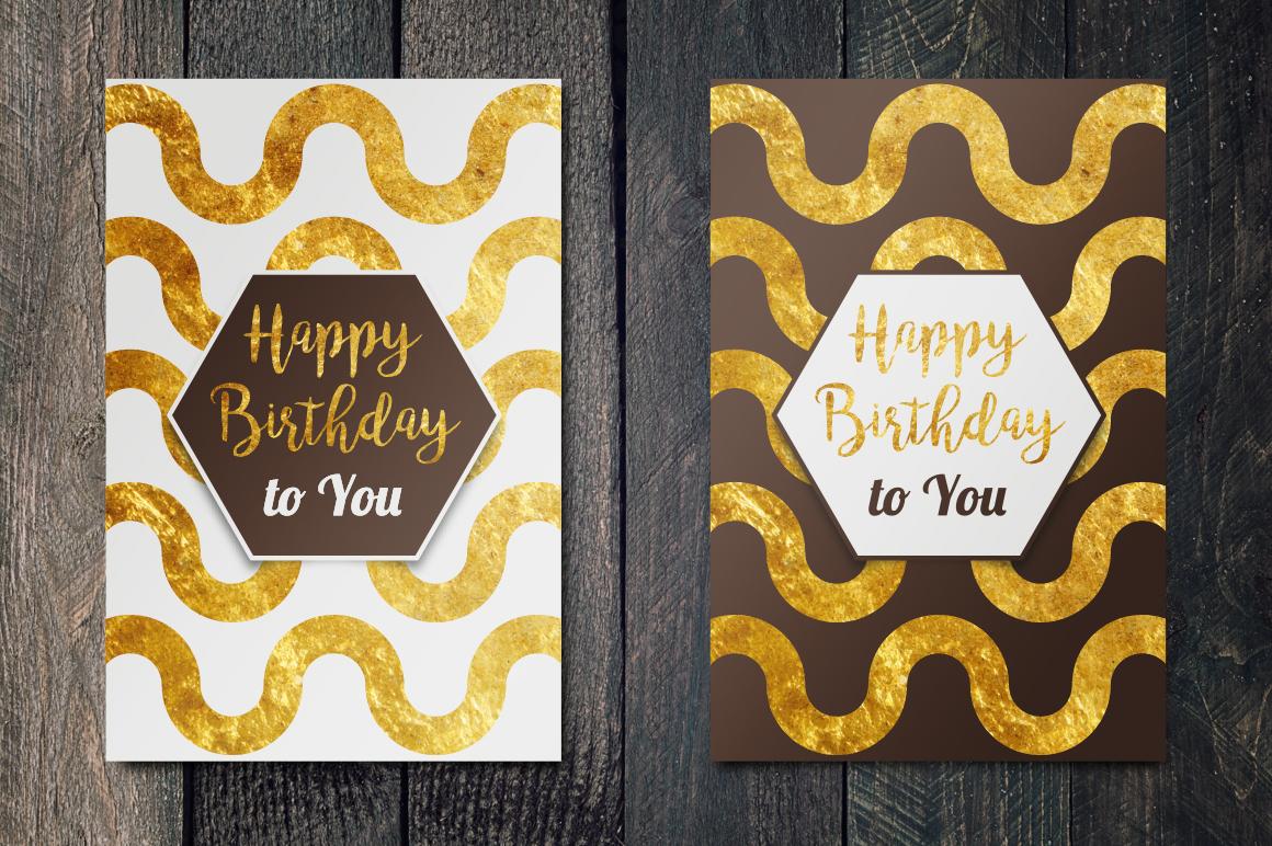 Happy Birthday Golden cards example image 3