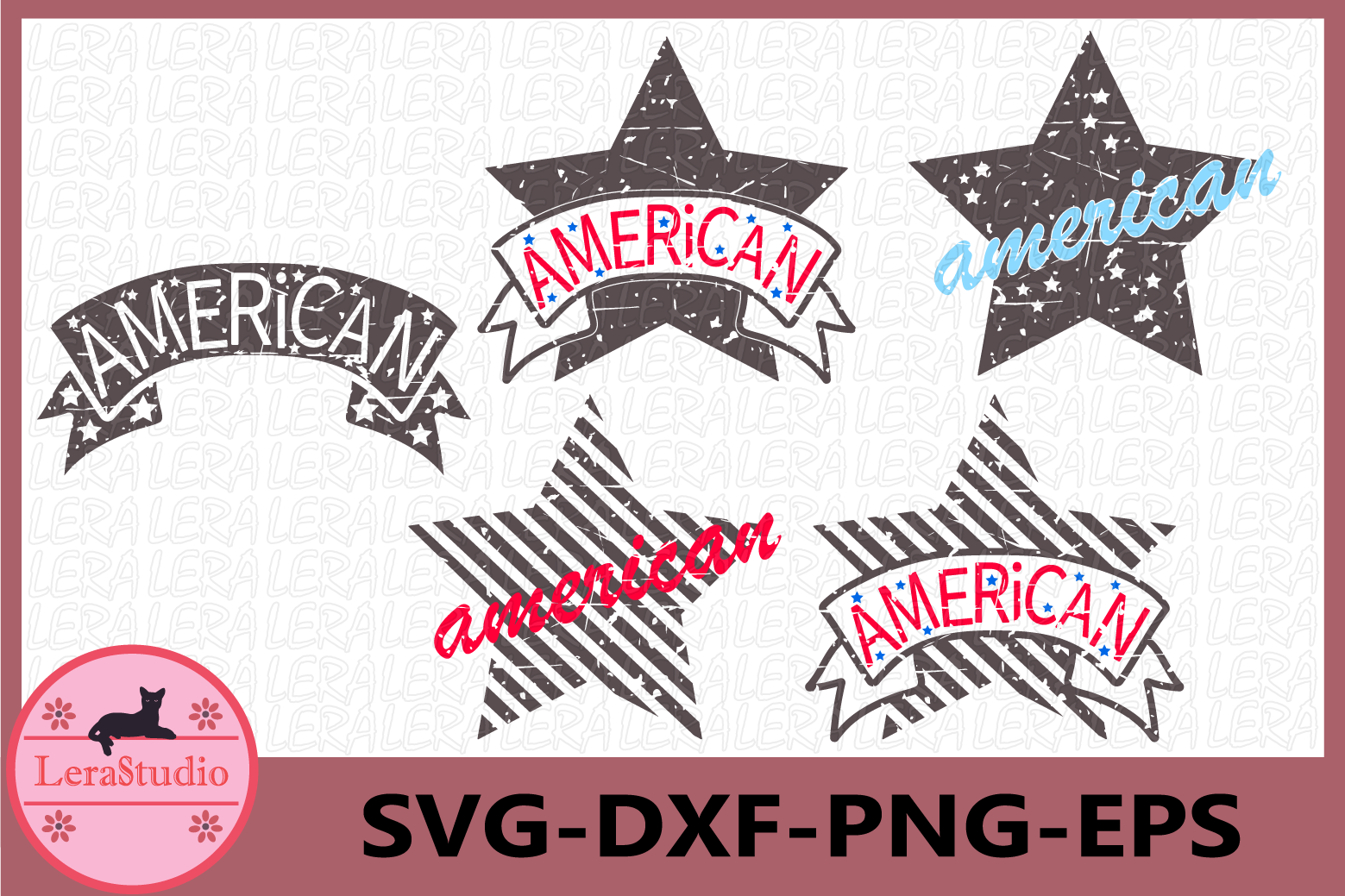 4th of July, American star svg, American Grunge SVG example image 1