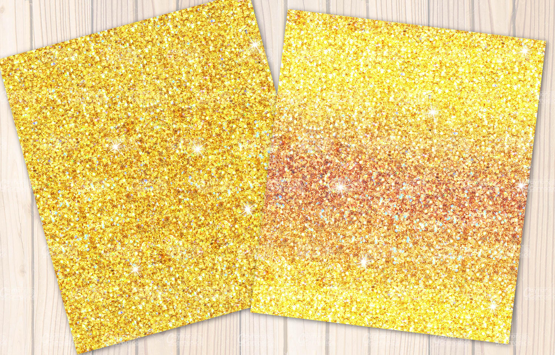 Lemon seamless Glitter backgrounds example image 3