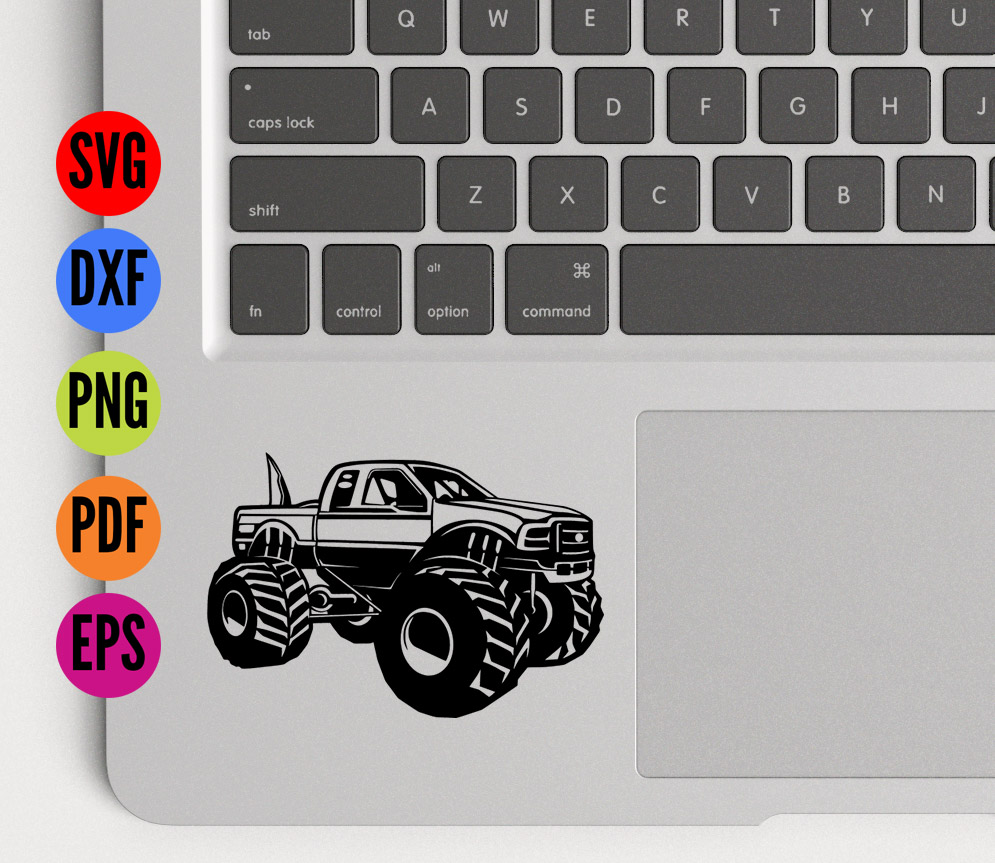 Big Foot Monster Truck  SVG Cutting File  example image 3