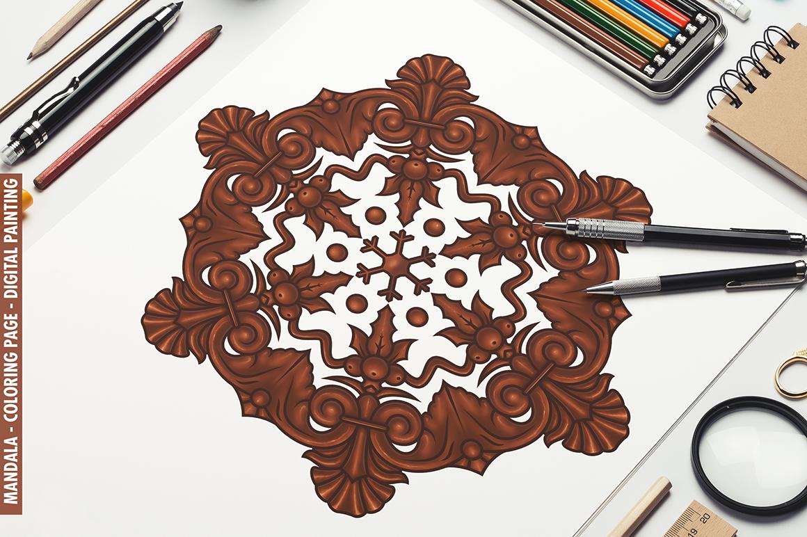 100 Christmas Mandala Ornaments example image 8