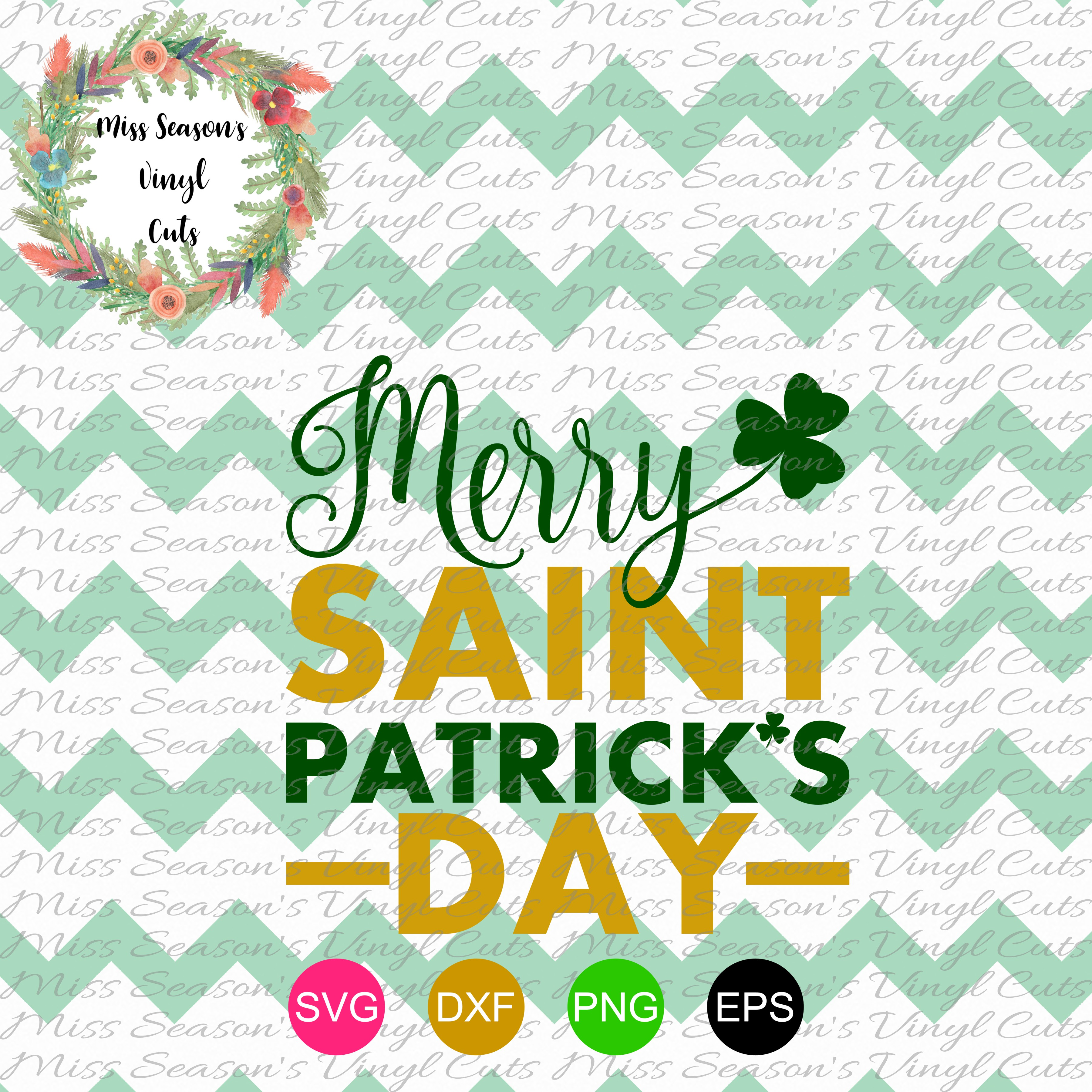 Merry Saint Patricks Day SVG  example image 1
