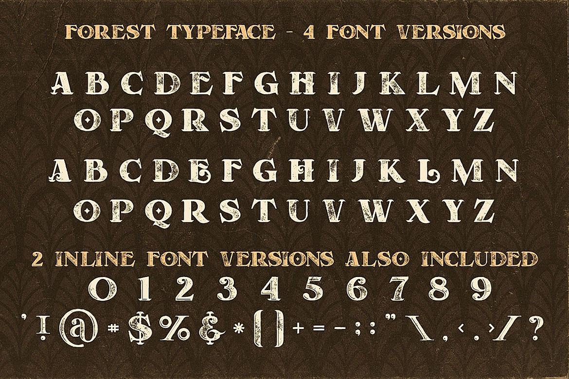 Forest - Display Font example image 4