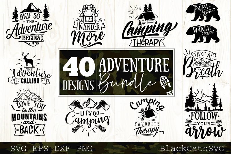 Adventure SVG bundle 40 designs Mountains SVG bundle example image 2