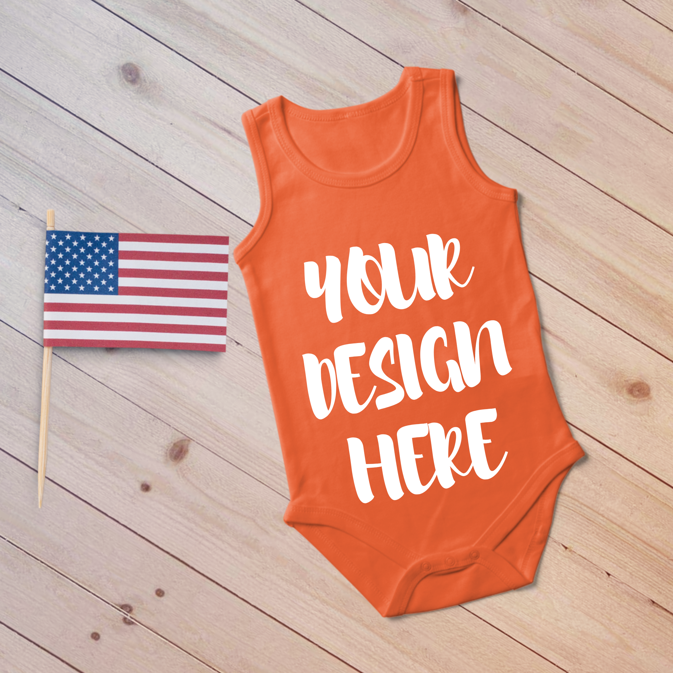 4th July Singlet Baby Bodysuit Mockups - 7 example image 3