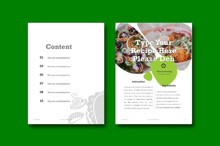Recipe eBook Template - Vegan Recipe Theme example image 3