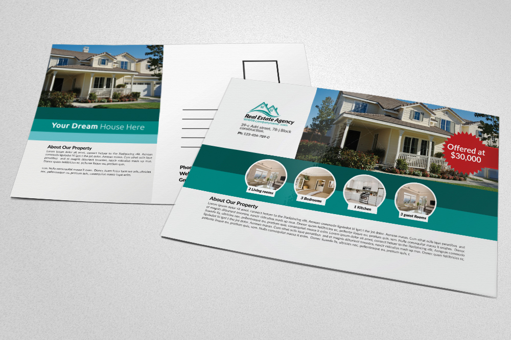 Real Estate Agency Postcards example image 1