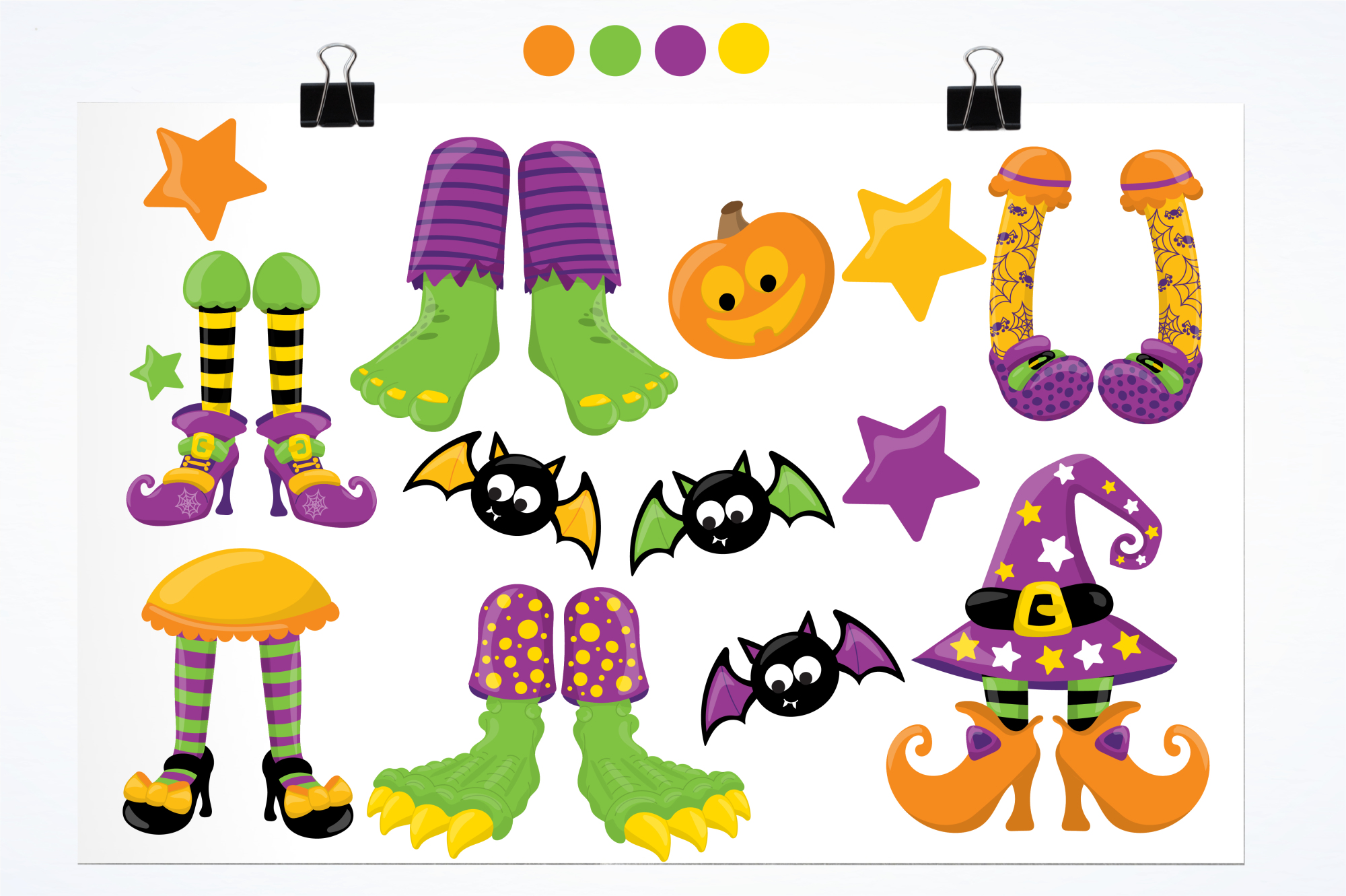 Halloween Feet graphics and illustrations example image 2