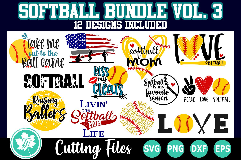 Softball SVG Bundle Volume 3 example image 1
