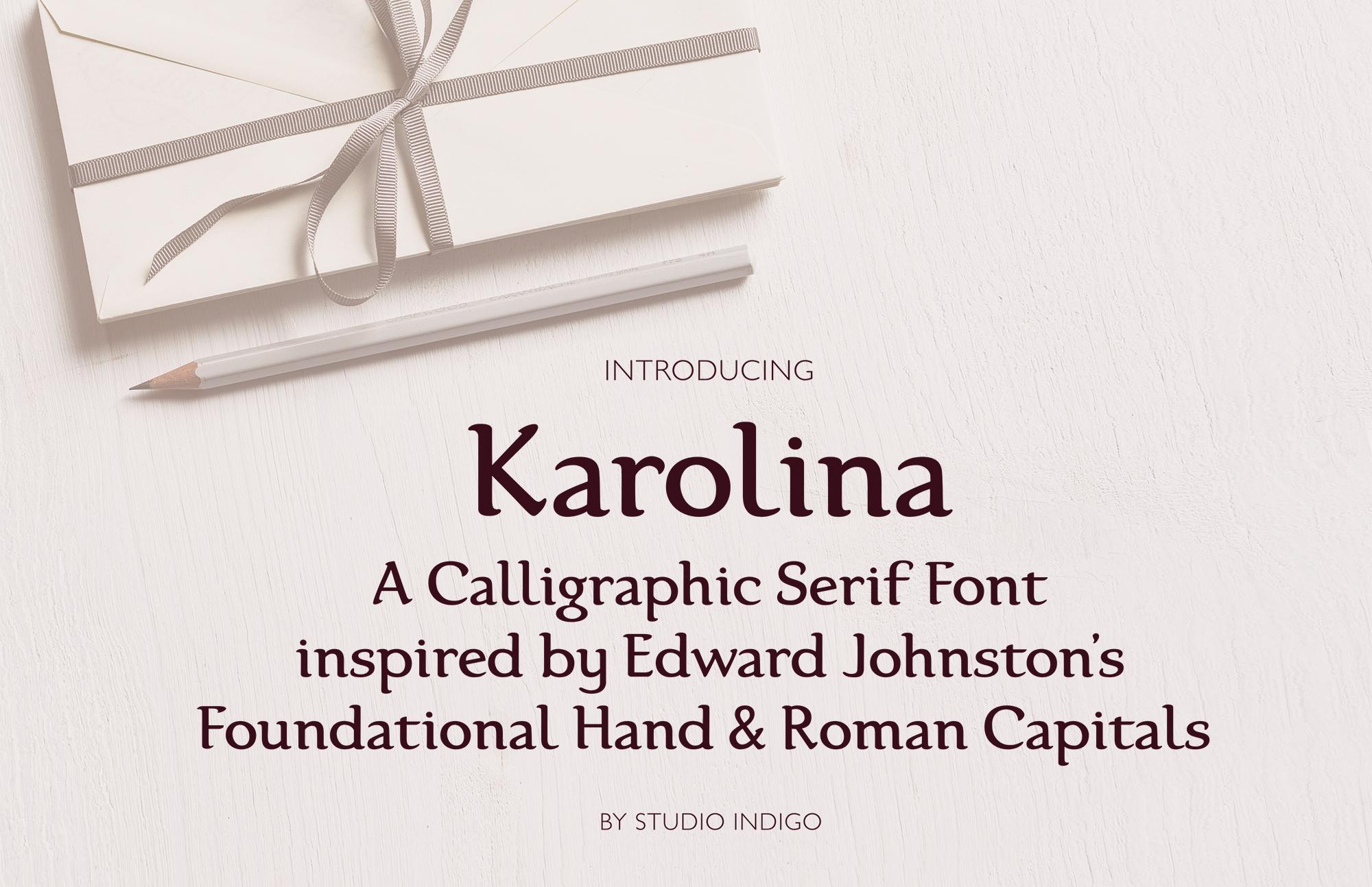 Karolina Serif Font example image 1