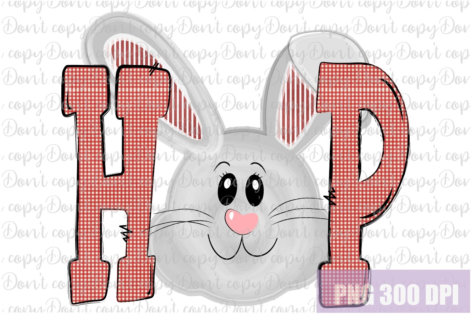 Hop Bunny Easter Sublimation PNG Design - Hip Hop Bunny example image 1