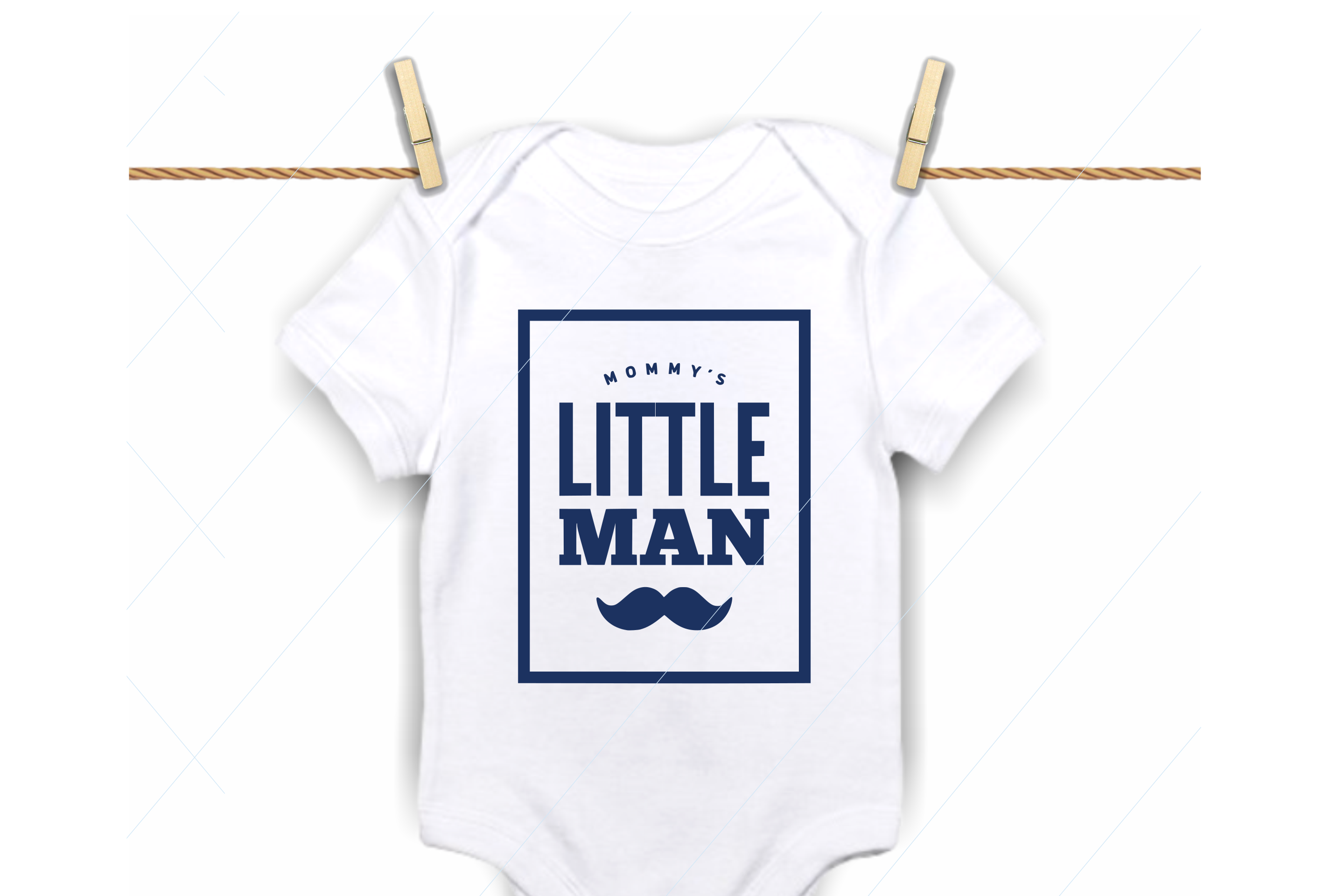 Mommy's little man svg, mamas love, brother, baby bodysuit example image 1