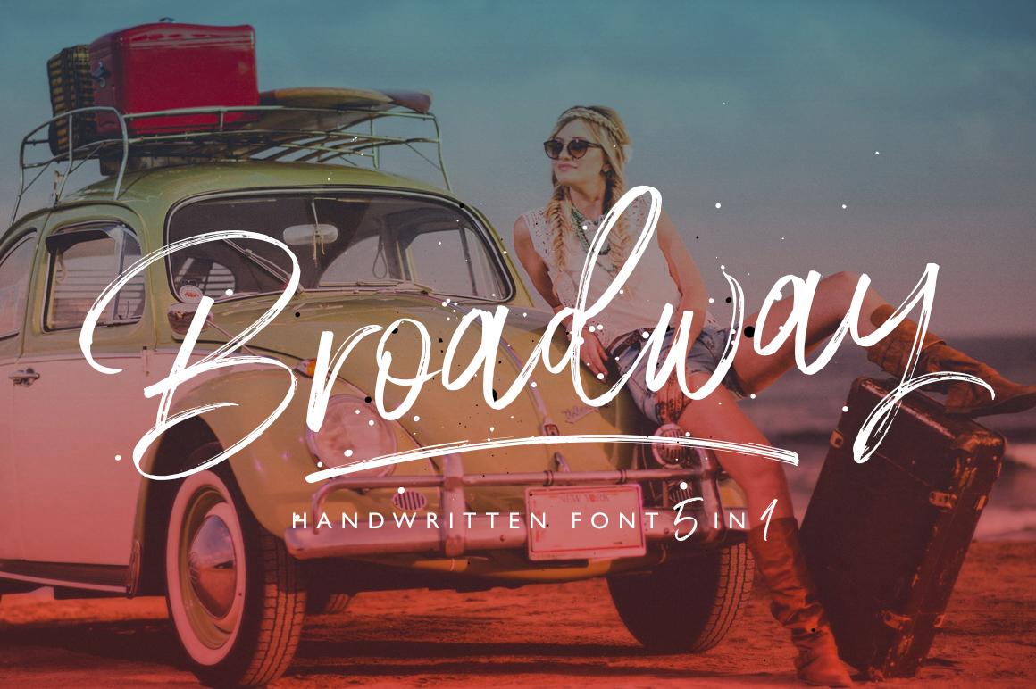 Broadway Script Font example image 1