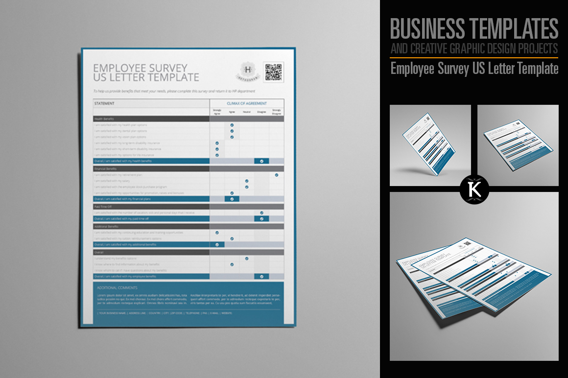 Employee Survey US Letter Template example image 1