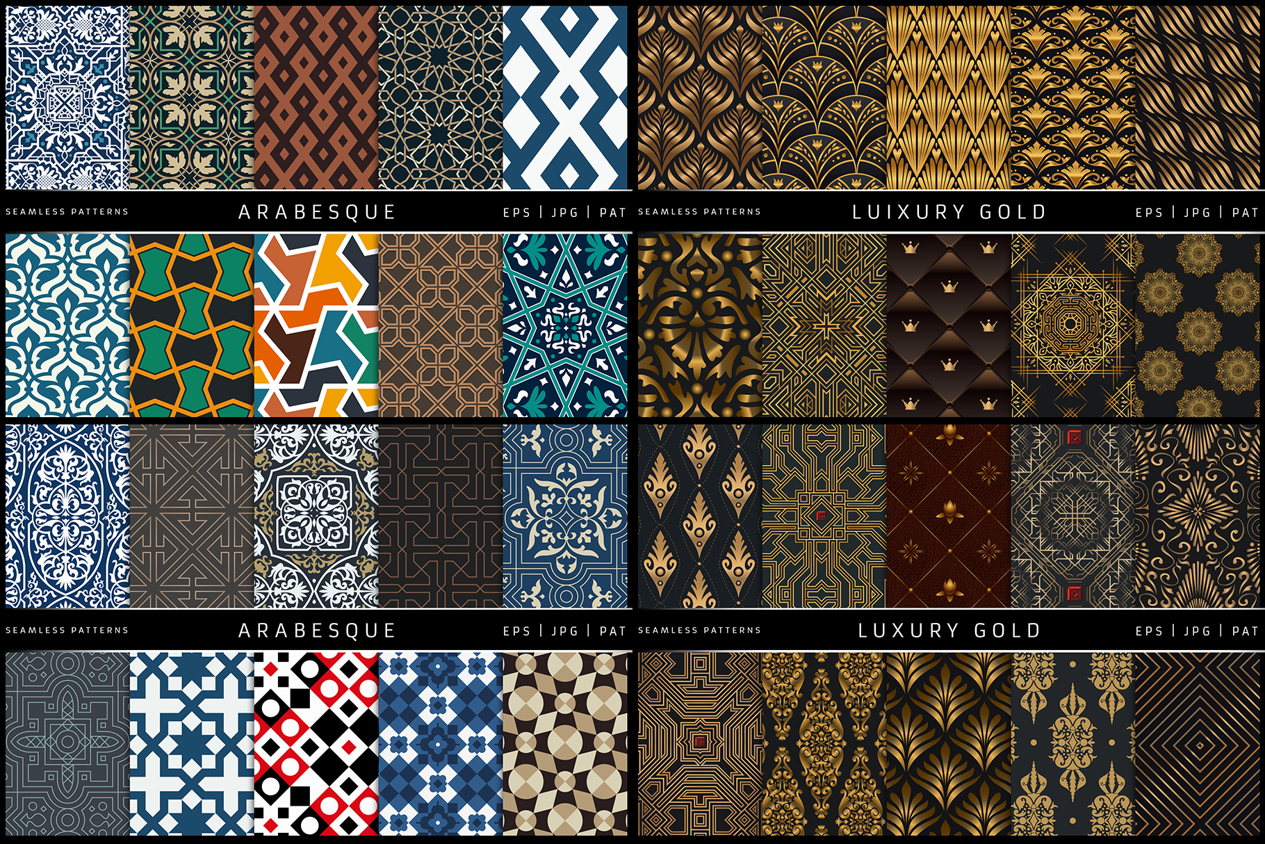 100 Seamless Patterns Vol.2 example image 3