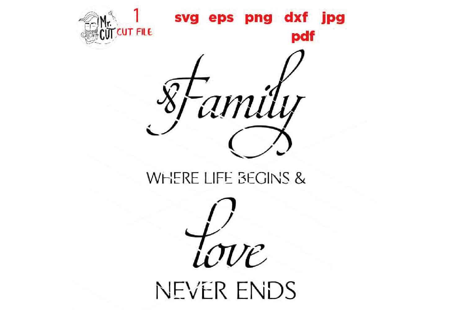 Family Where Life Begins SVG, Family SVG, Where Life Begins example image 2