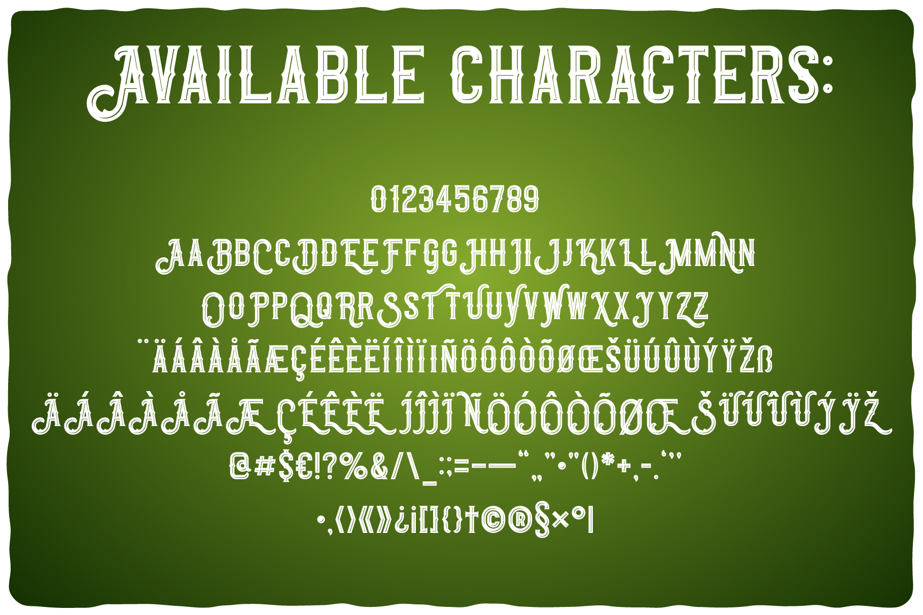 Original Absinthe Layered Font example image 2