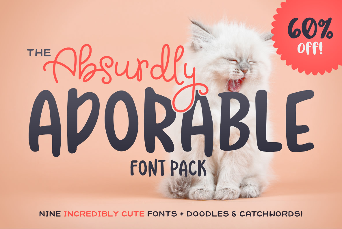 The Absurdly Adorable Font Pack example image 1