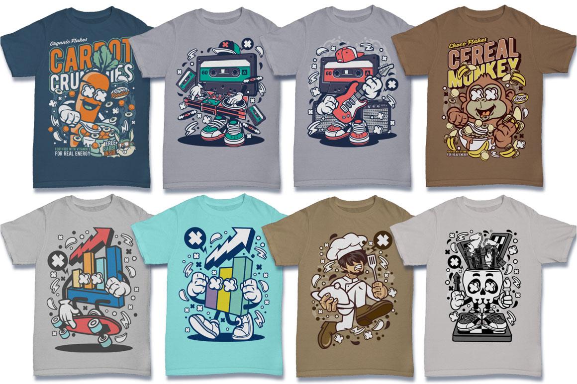 Cartoon Vector #6 Tshirt Design Bundle example image 6