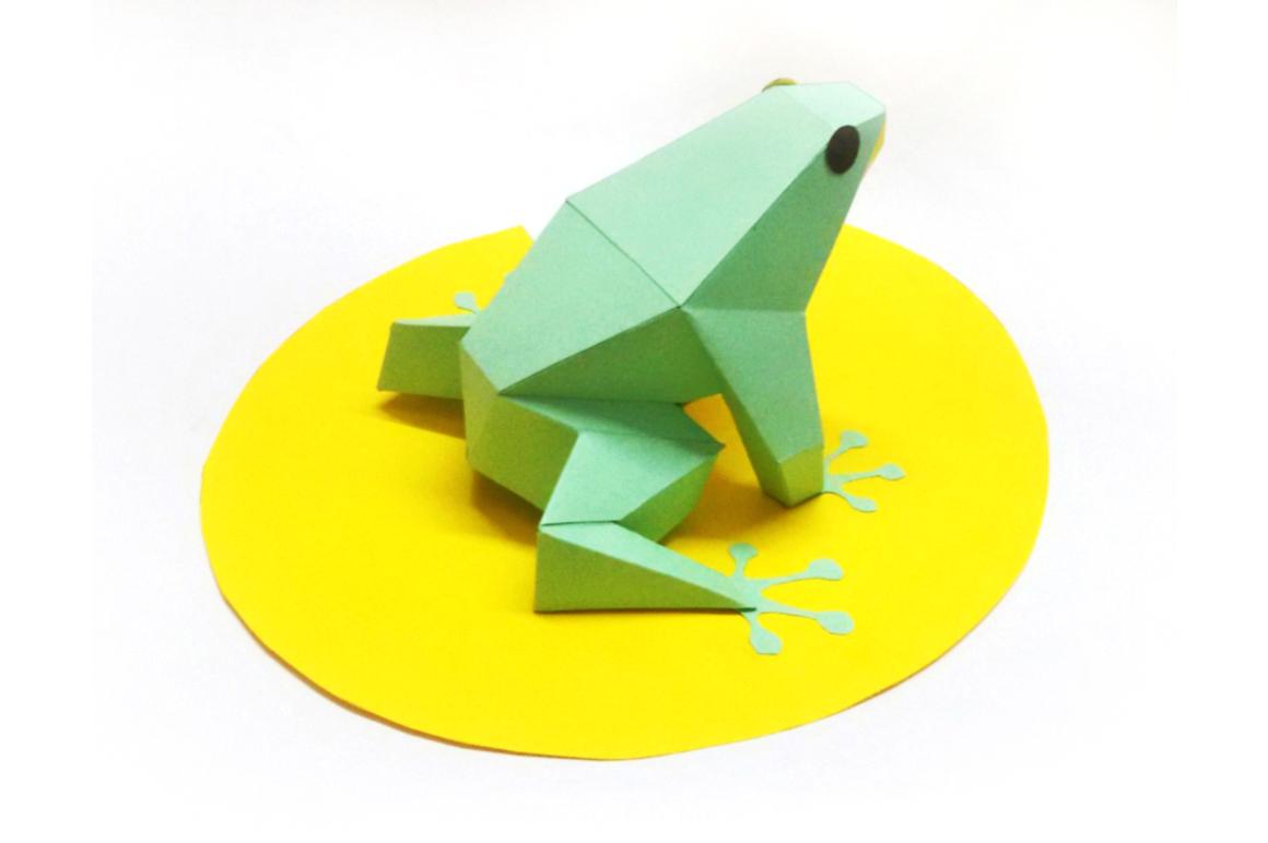 DIY Frog - 3d papercraft example image 4