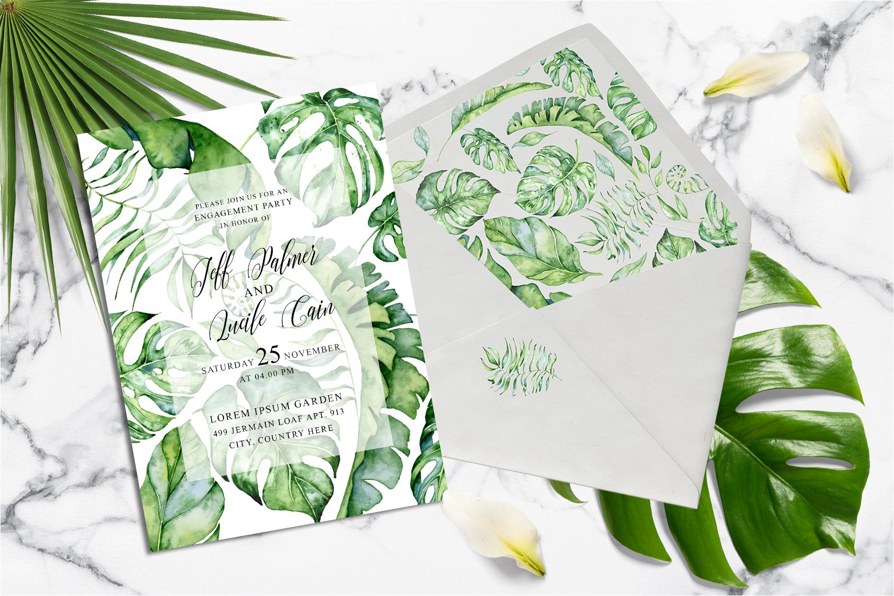Tropical Greenery Wedding Suit example image 3
