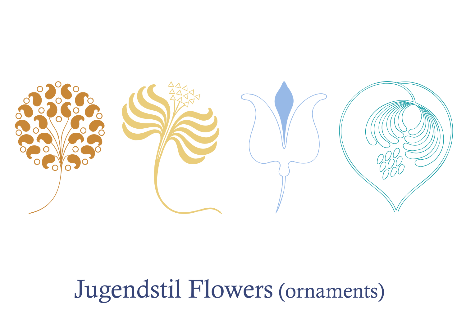 Jugendstil Flowers (family pack) example image 5