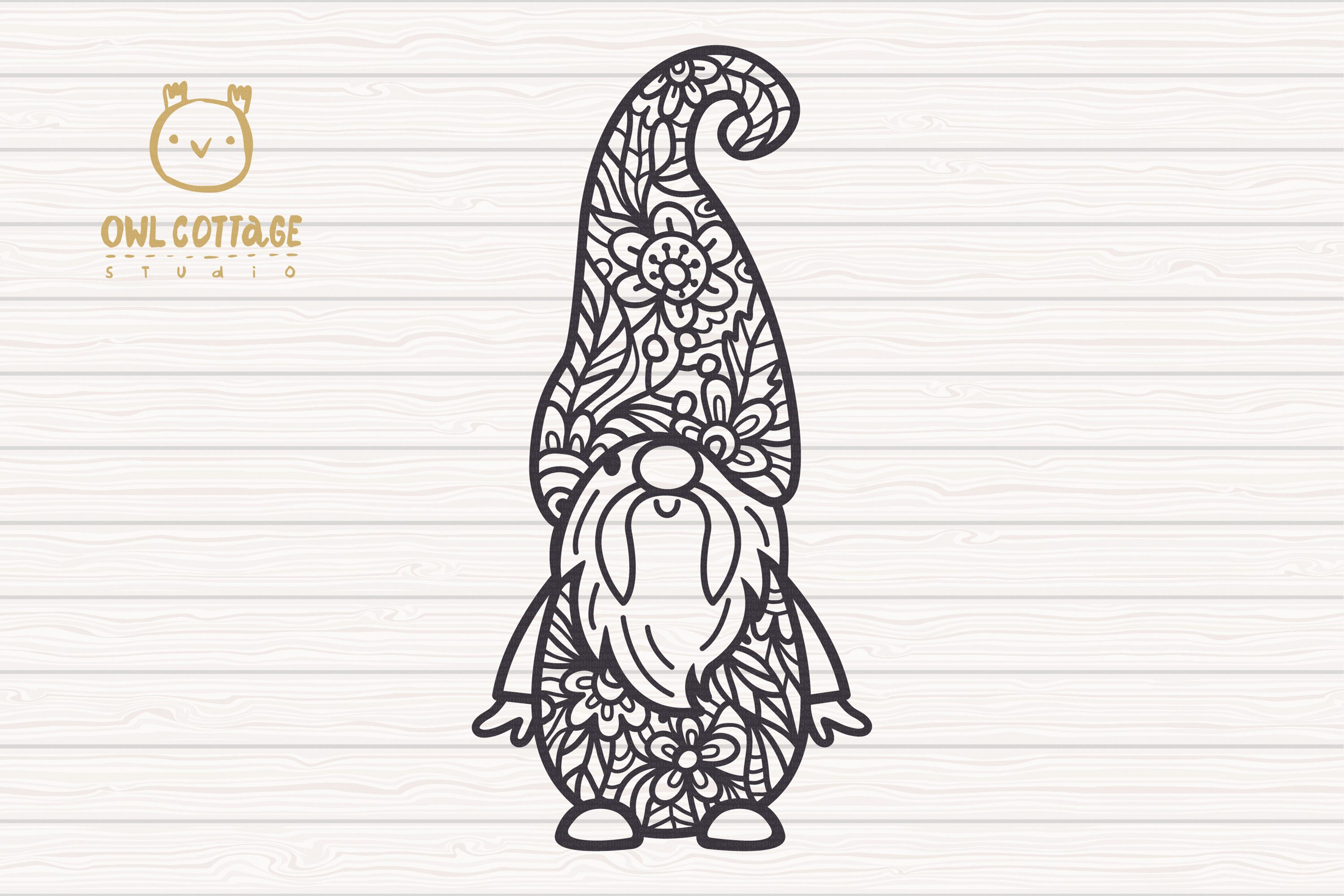 Scandinavian Floral Gnomes SVG, Gnome Clipart, Tomte example image 4