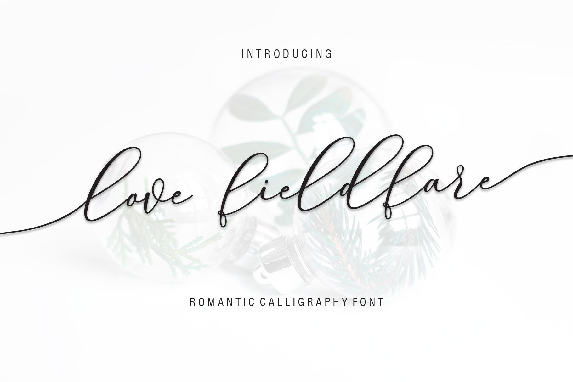Love Fieldfare Script example image 1