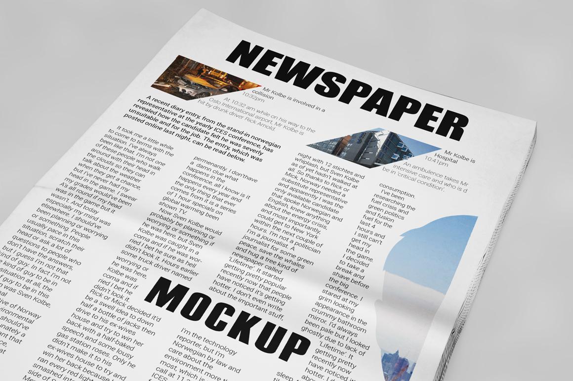 Newspaper Mockup example image 3