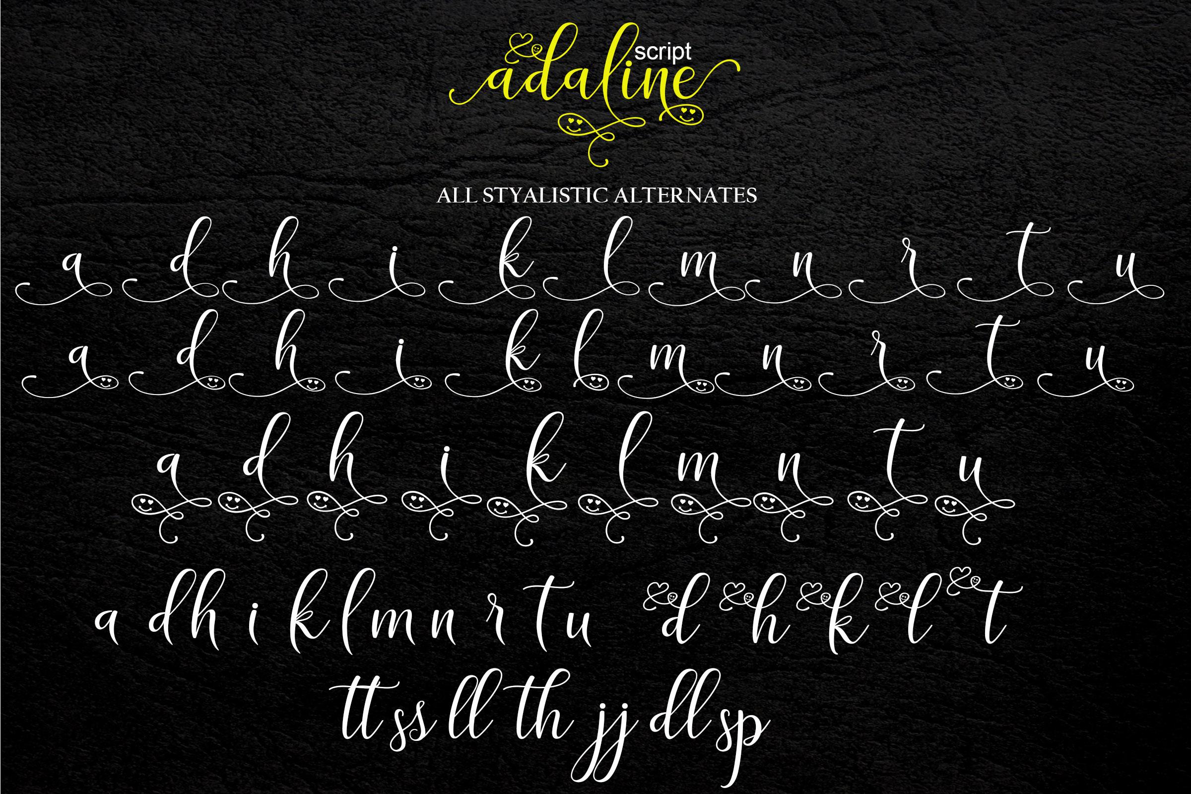 Adaline Script Font Family example image 11