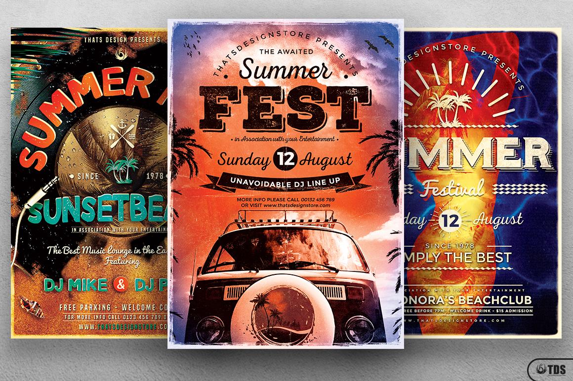 Summer Fest Flyer Bundle example image 1