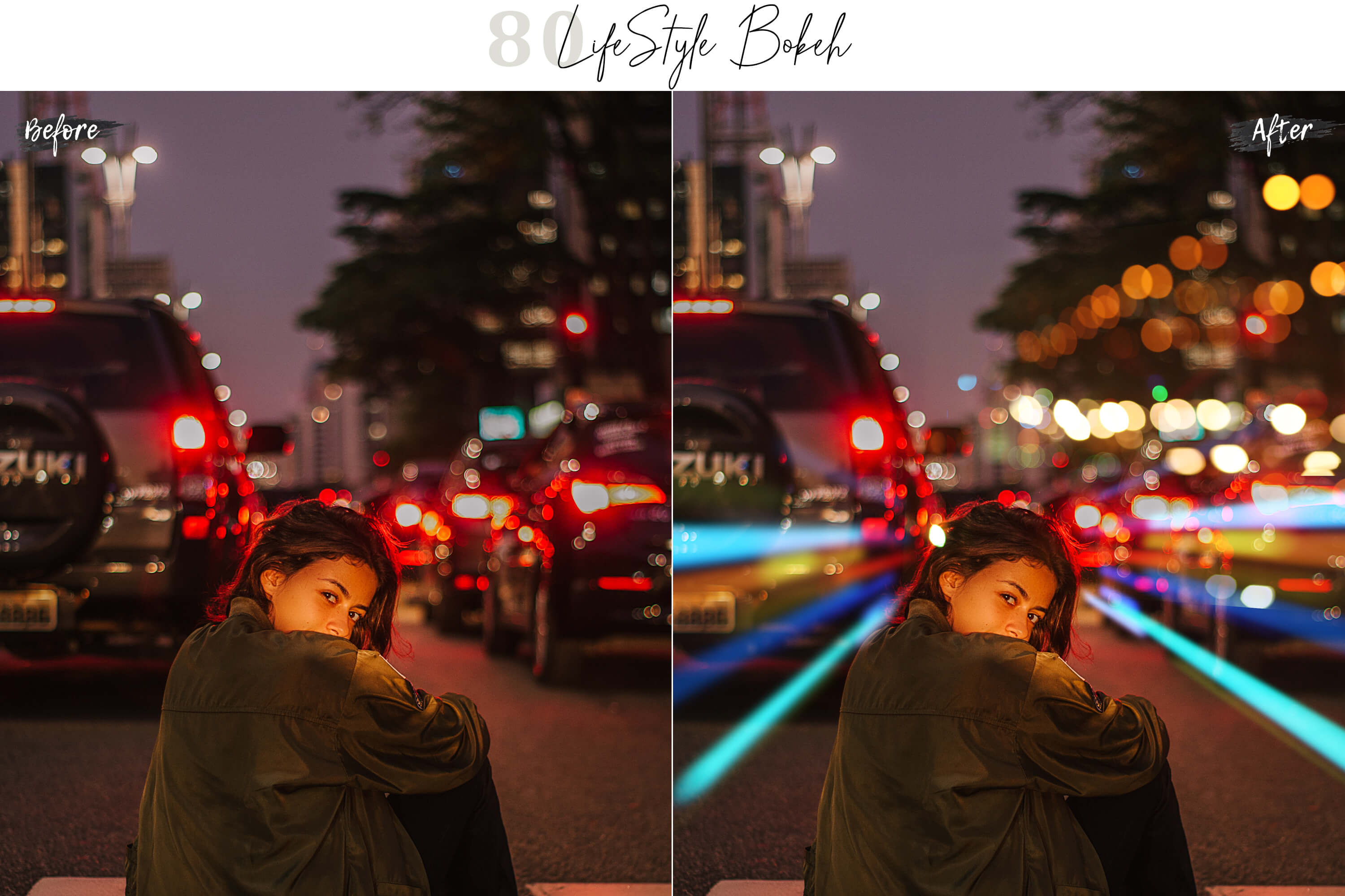 80 Life Style Bokeh Pack 02 lights Effect Photo Overlays example image 4