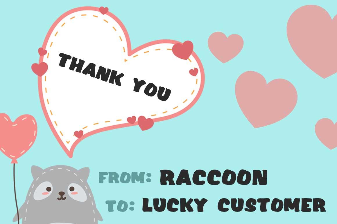 Raccoon Font example image 3