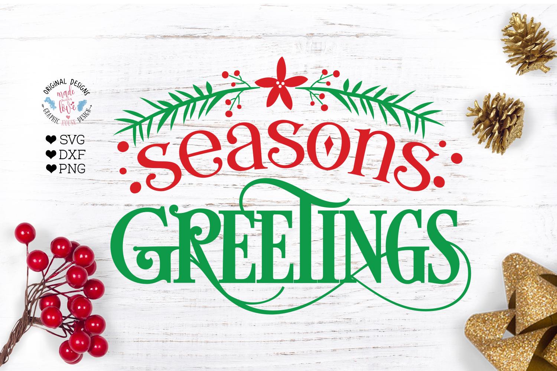 Seasons Greetings - Christmas Home Decor Cut File example image 2