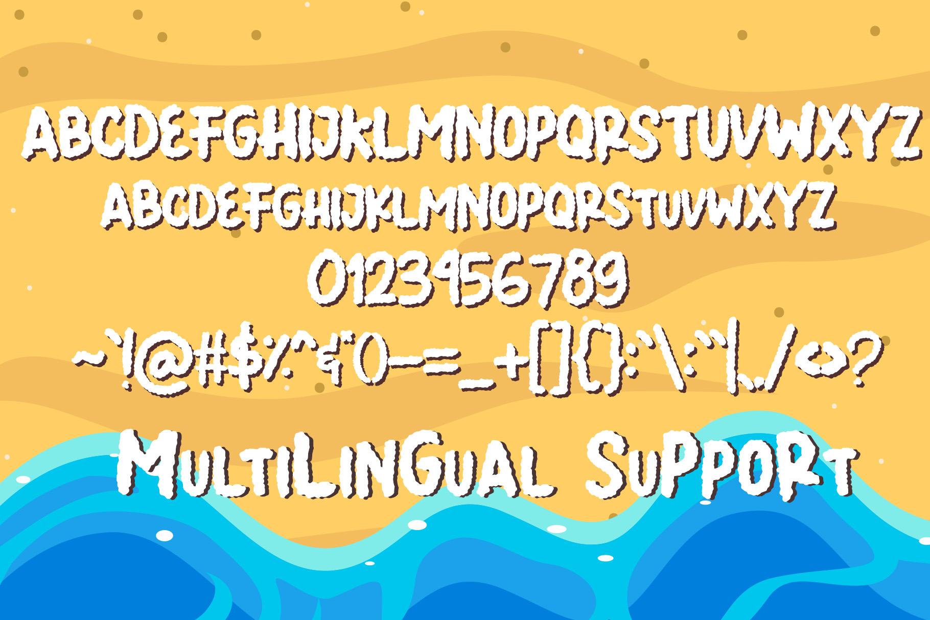 Summer Llama Typeface - Extra Drawing Llama example image 8