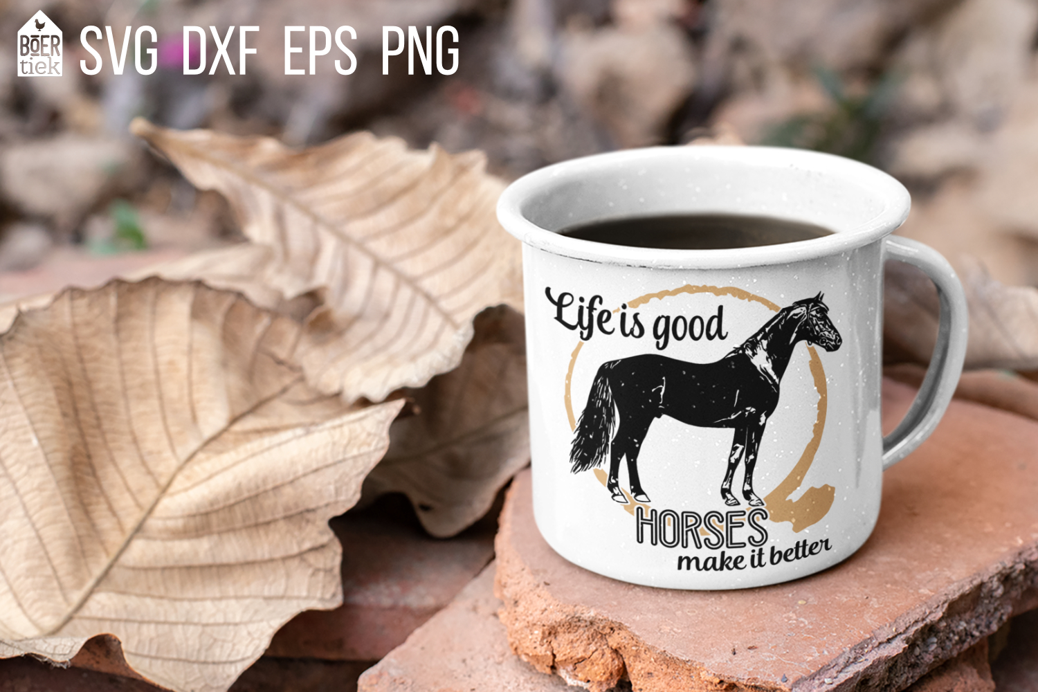 Horses make life better, SVG file for horse lovers example image 1