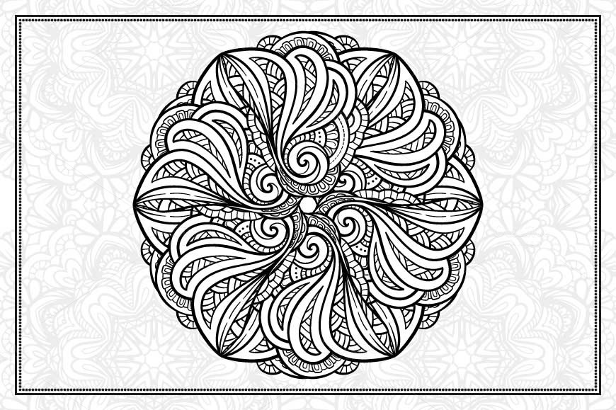 Black and white mandalas set example image 2