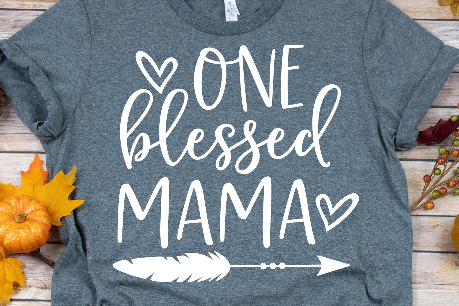 One Blessed Mama SVG, DXF, PNG, EPS example image 1