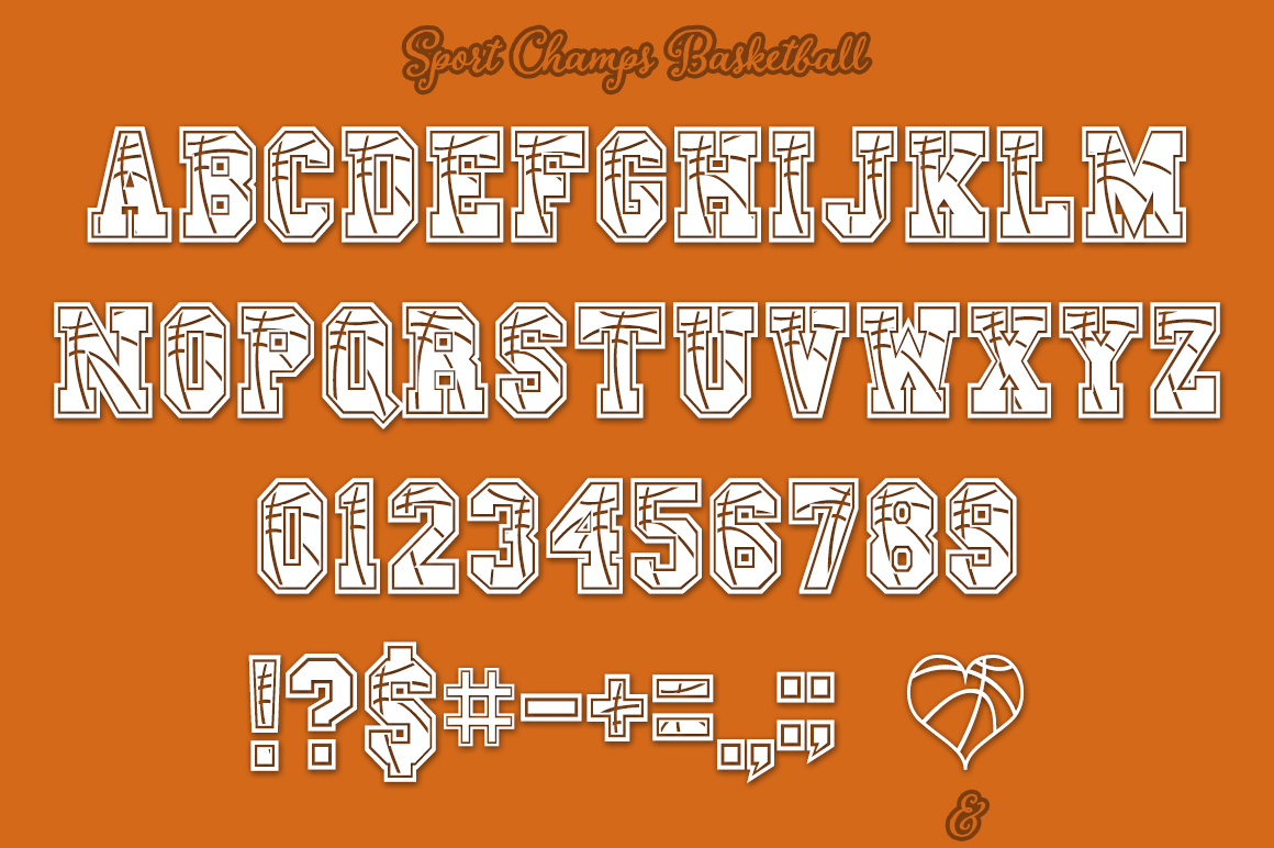 Sport Champs Basketball Font example image 2