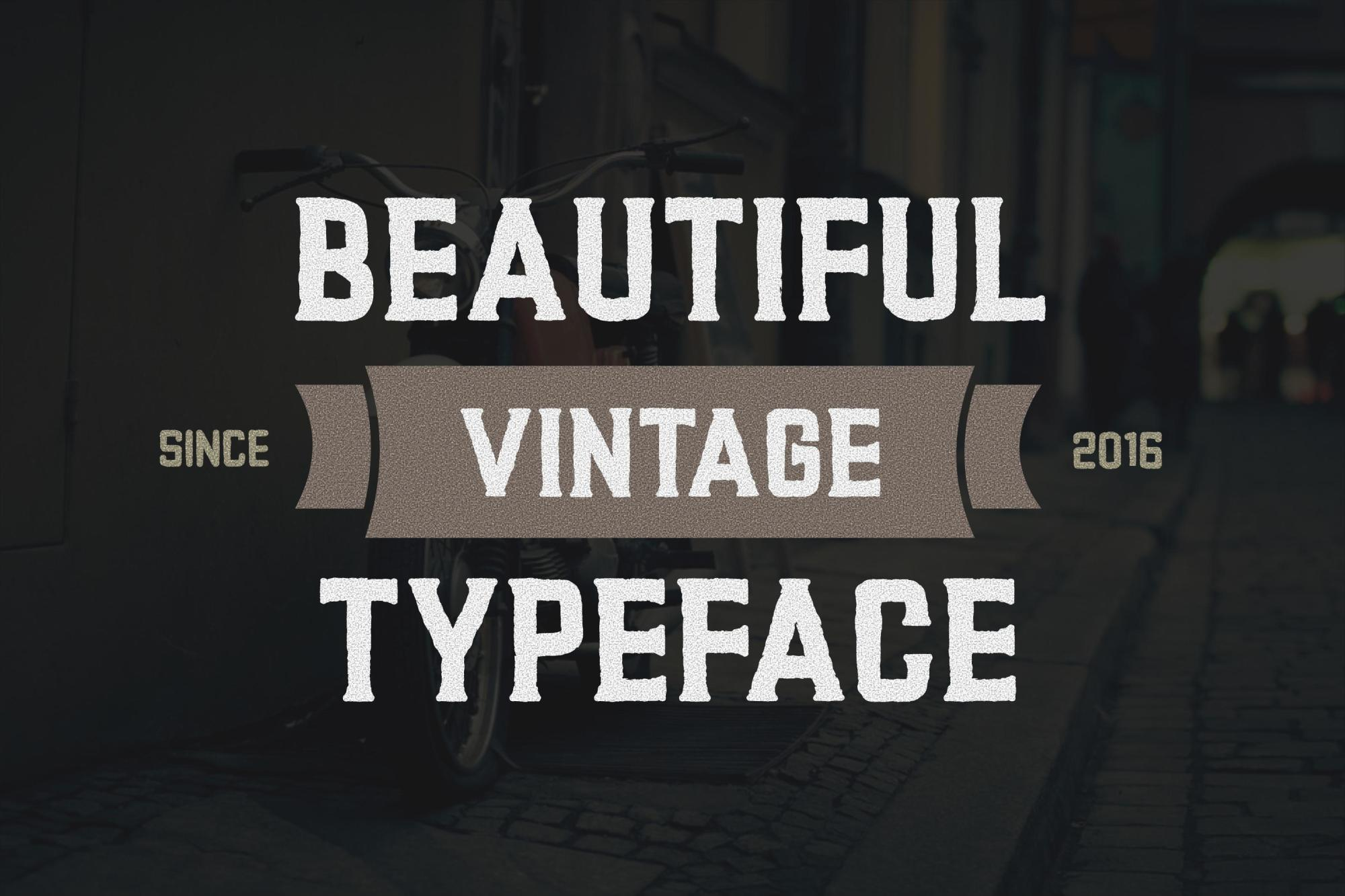 Ronies Vintage Font example image 2