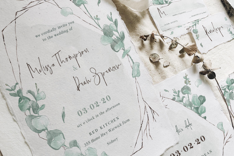 Watercolor Eucalyptus Wedding Suite example image 6