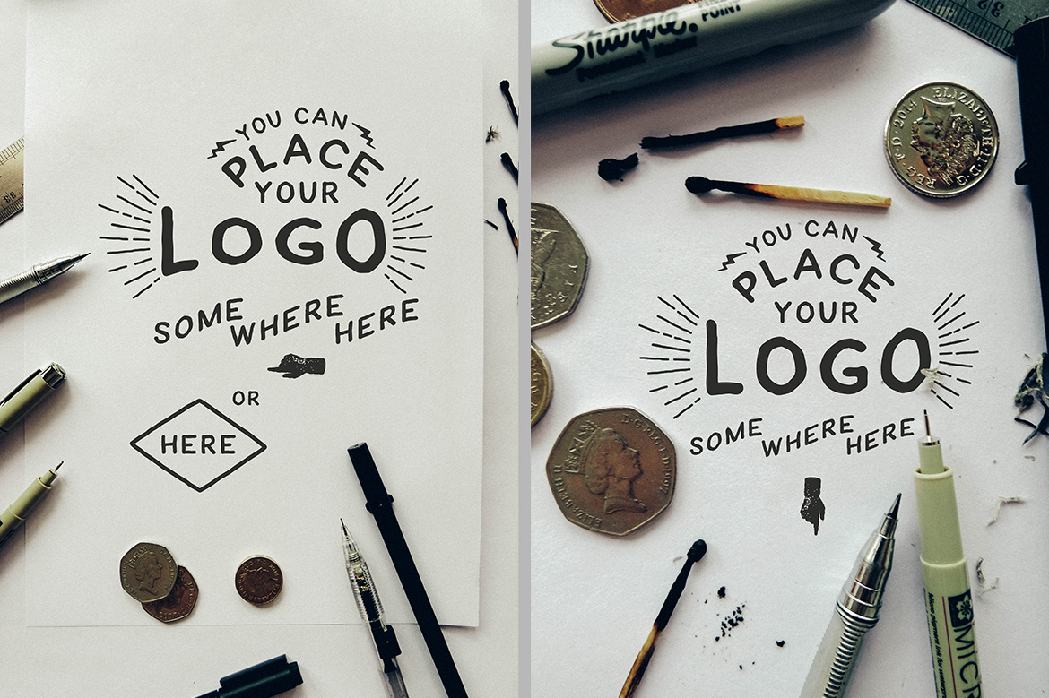 Hand Lettering Logo Mock Up example image 4