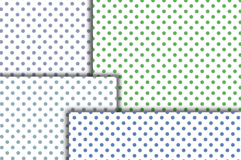 Pastel Polka dot digital paper. Dotted digital background example image 6