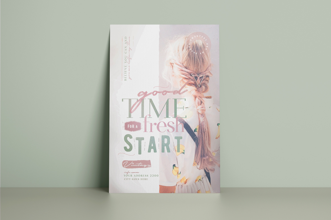 A Good Time For A Fresh Start Flyer Template example image 2